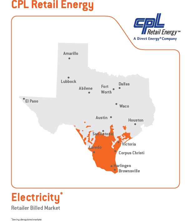 South Texas Cities We Serve CPL Retail Energy - South texas map with cities