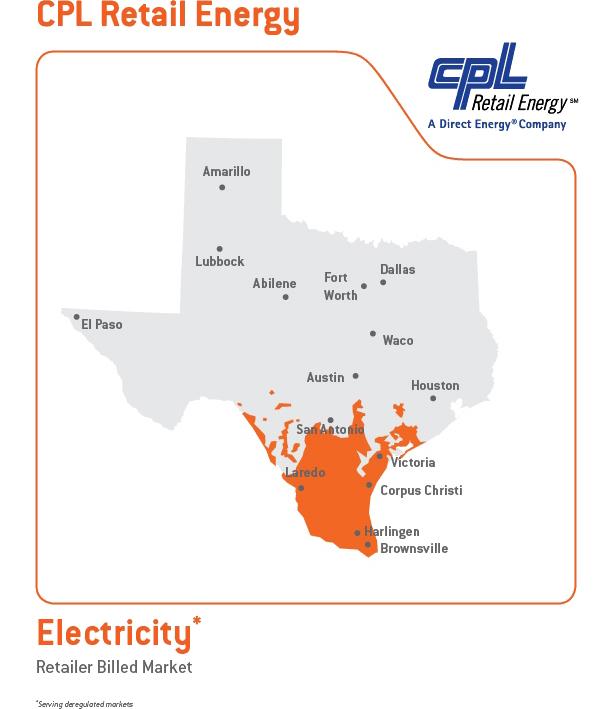 CPL Service Area Map
