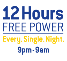 12 hours free power
